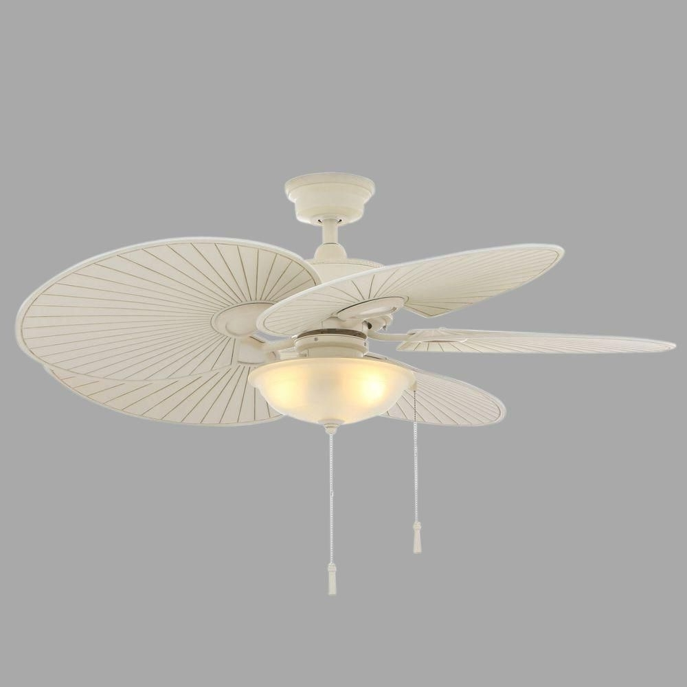 Hampton Bay Havana 48 In. Indoor/outdoor Vintage White Ceiling Fan Intended For Fashionable Wicker Outdoor Ceiling Fans With Lights (Gallery 10 of 20)