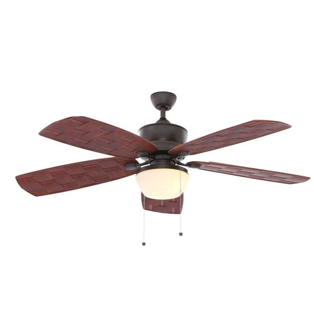 Hampton Bay Rocio 60 In. Natural Iron Indoor/outdoor Ceiling Fan Inside 2018 Nickel Outdoor Ceiling Fans (Gallery 20 of 20)