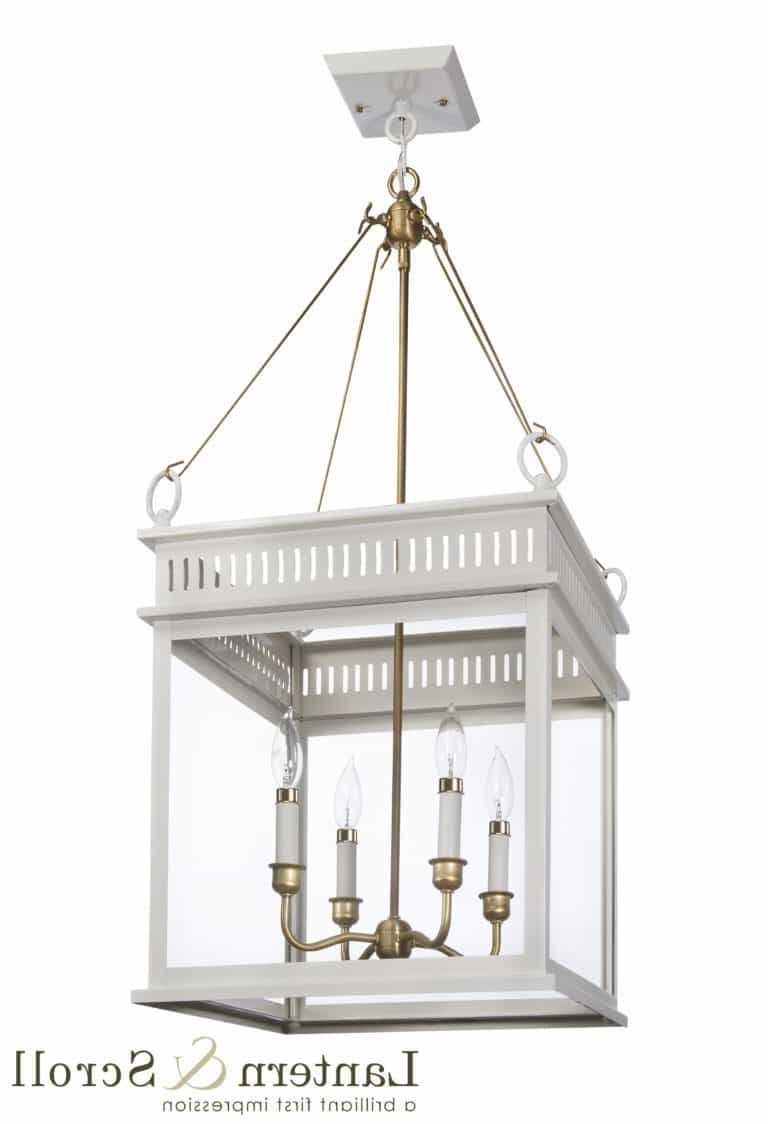Hanging Ceiling Light Lantern White Bronze Copper Chain Interior Pertaining To Latest Copper Outdoor Electric Lanterns (View 11 of 20)