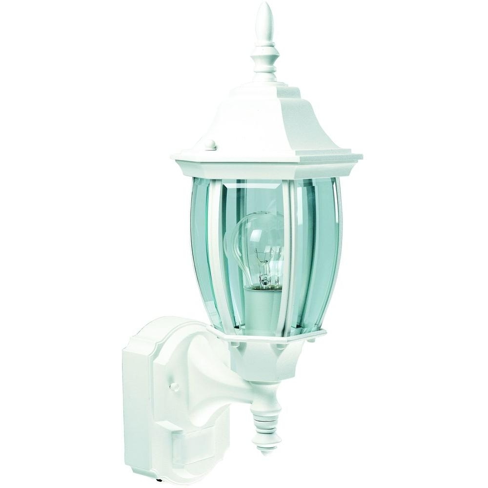 Heath Zenith 180 Degree White Alexandria Lantern With Curved Beveled In 2019 White Outdoor Lanterns (View 6 of 20)