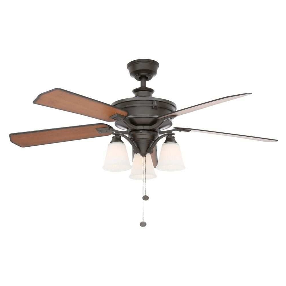 High Cfm Ceiling Fan Luxury Hampton Bay Metro 54 In Indoor Outdoor Pertaining To 2018 Outdoor Ceiling Fans With High Cfm (View 5 of 20)
