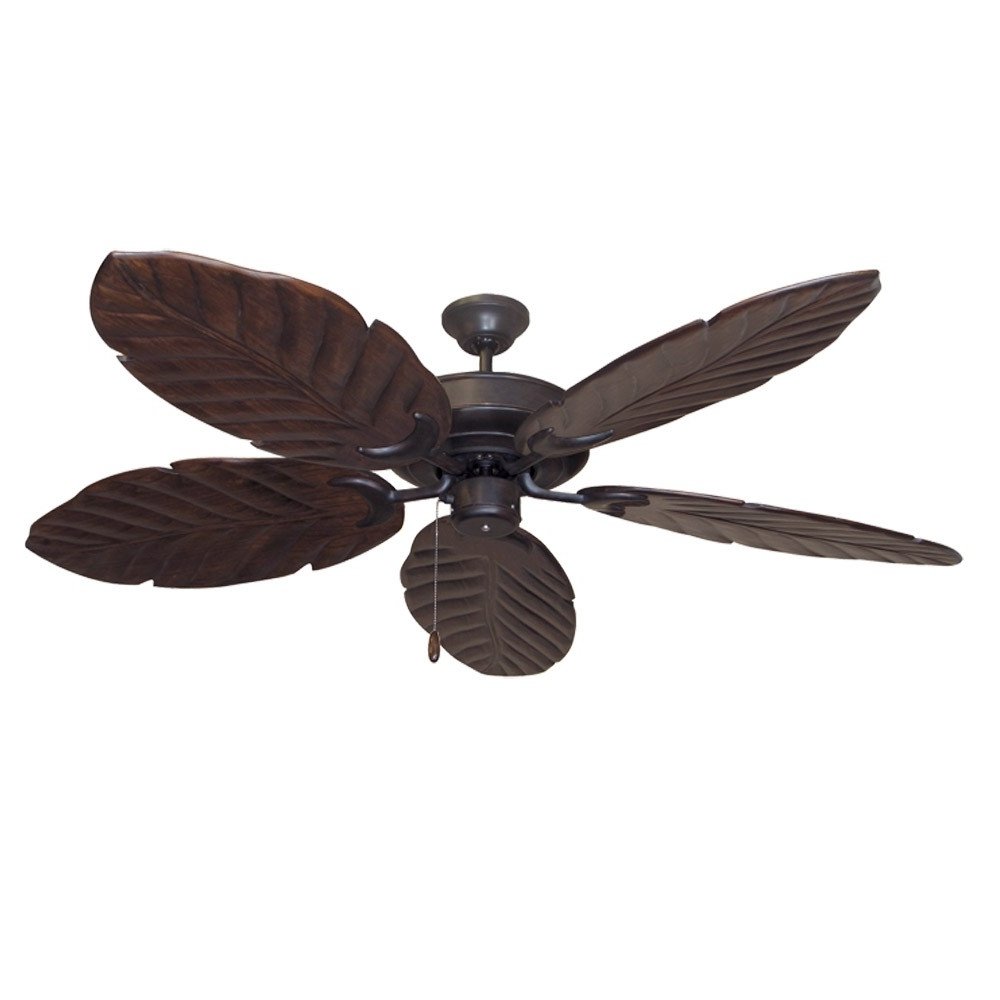High Volume Outdoor Ceiling Fans Throughout Popular Oil Rubbed Bronze Raindance 100 Series Ceiling Fan – Real Wood (Gallery 7 of 20)