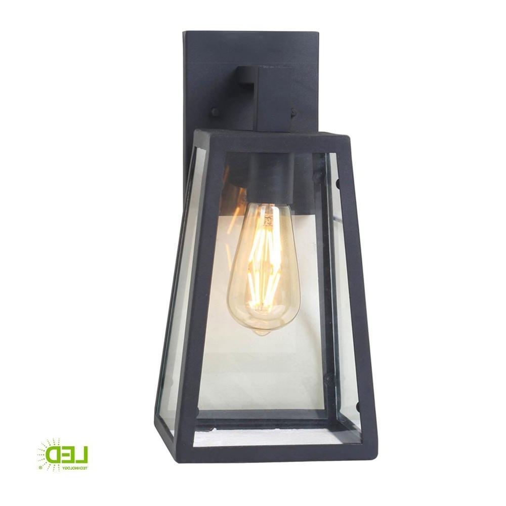 Home Decorators Collection 1 Light Sand Black Large Outdoor Wall With Regard To Favorite Large Outdoor Electric Lanterns (View 2 of 20)