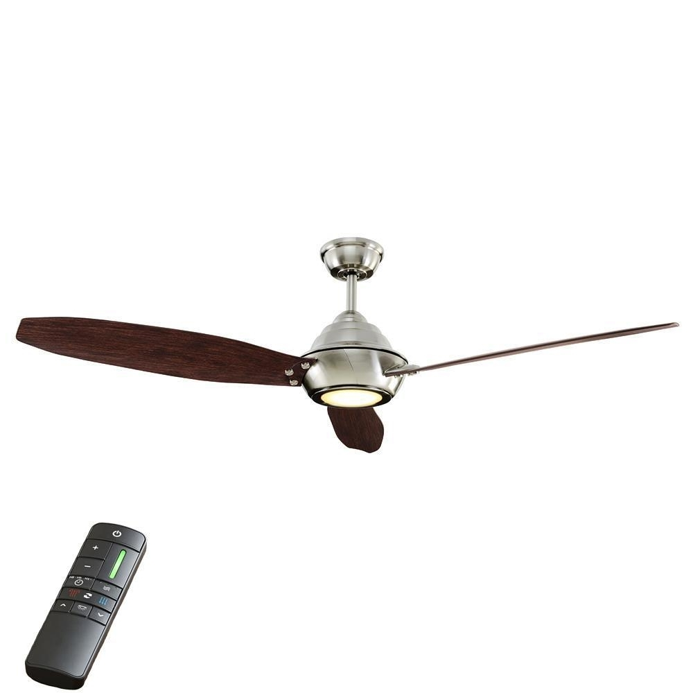 Home Decorators Collection Aero Breeze 60 In. Integrated Led Indoor Inside Preferred Outdoor Ceiling Fans For High Wind Areas (Gallery 4 of 20)