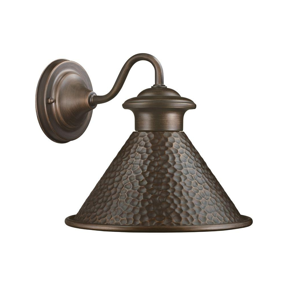 Home Decorators Collection Essen 1 Light Antique Copper Outdoor Wall Within Most Recently Released Home Depot Outdoor Lanterns (View 9 of 20)
