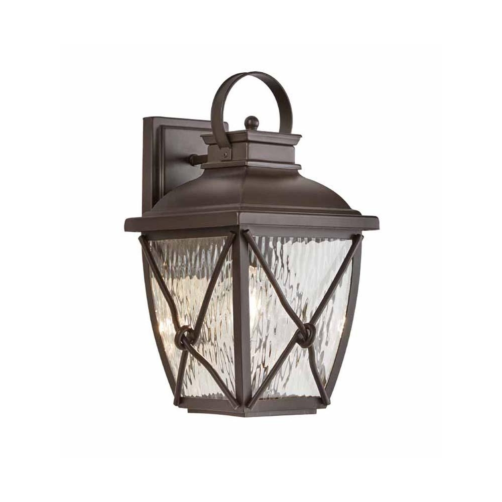 Home Decorators Collection Springbrook 1 Light Rustic Outdoor Wall Pertaining To Most Current Outdoor Vinyl Lanterns (View 8 of 20)