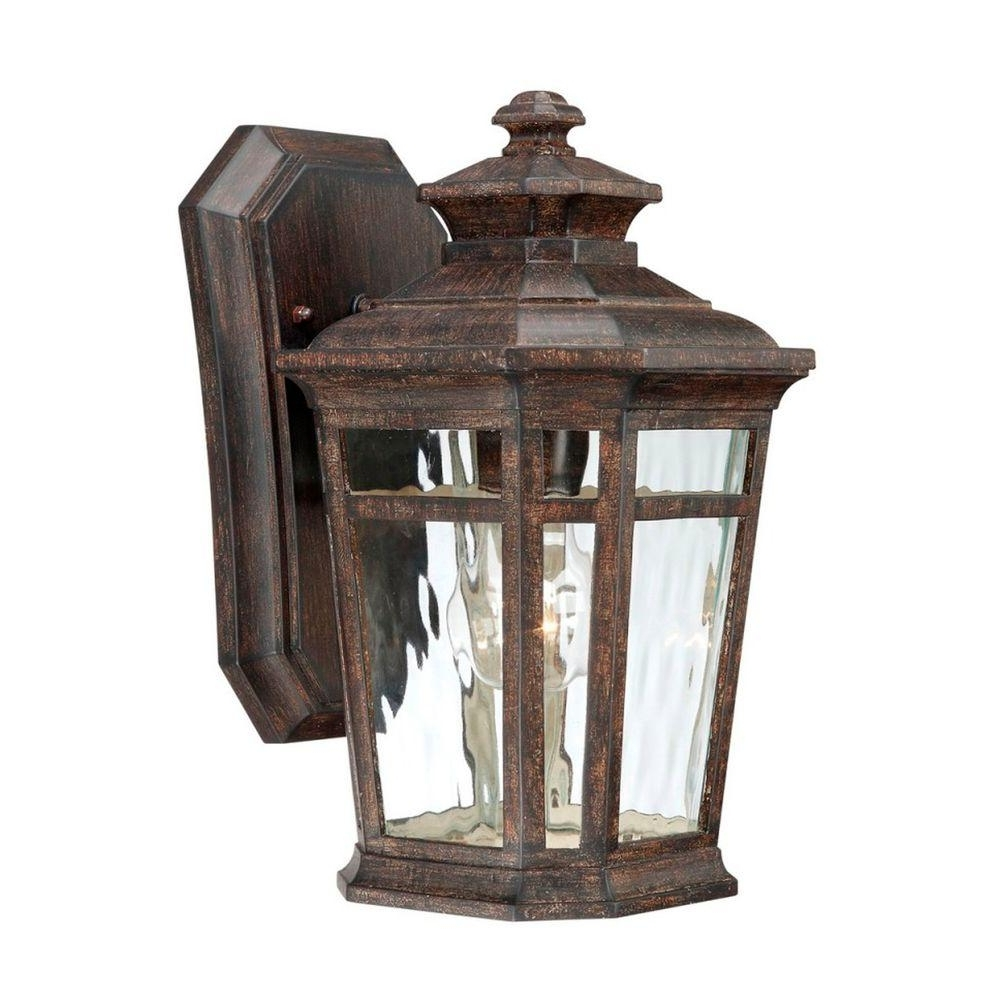 Home Decorators Collection Waterton 1 Light Dark Ridge Bronze Intended For Newest Outdoor Bronze Lanterns (View 2 of 20)
