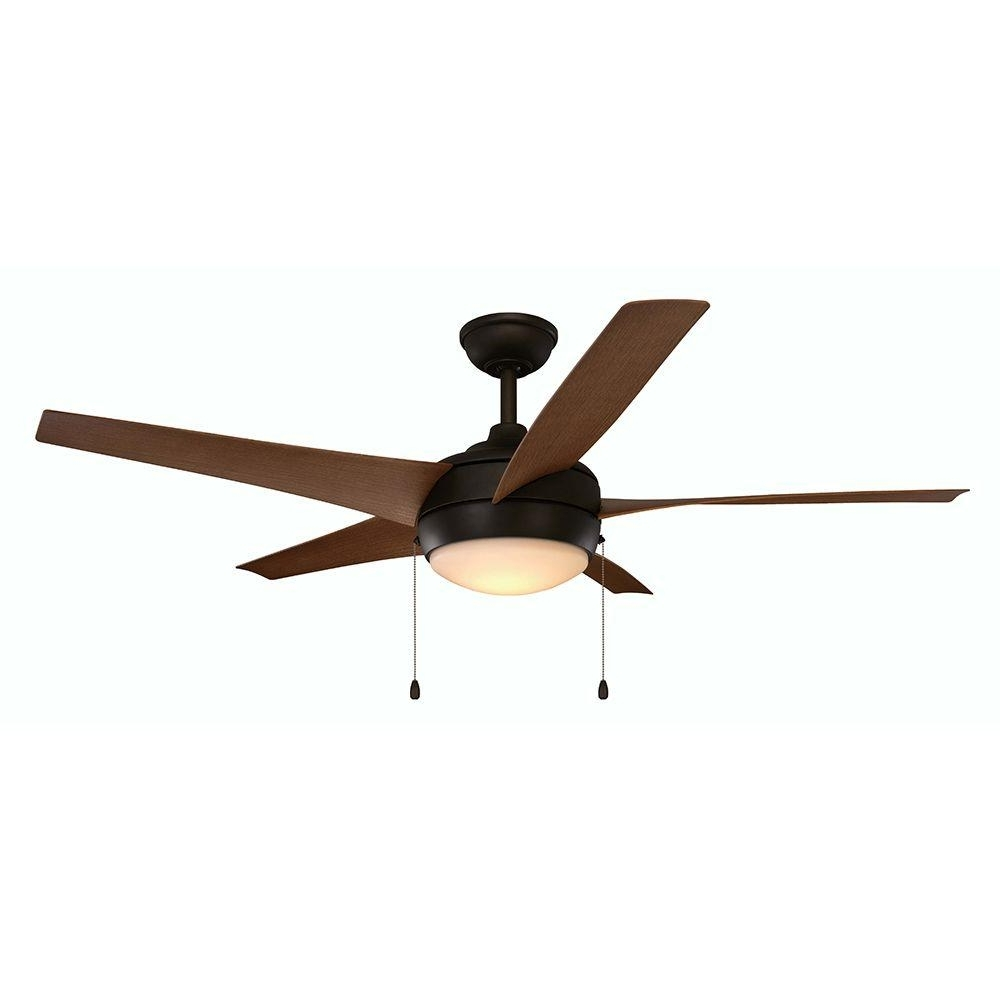 Home Decorators Collection Windward Iv 52 In. Integrated Led Indoor With Regard To Latest Oil Rubbed Bronze Outdoor Ceiling Fans (Gallery 15 of 20)