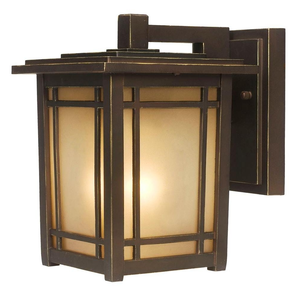 Home Depot Outdoor Lanterns For Well Known Home Decorators Collection Port Oxford 1 Light Oil Rubbed Chestnut (View 11 of 20)