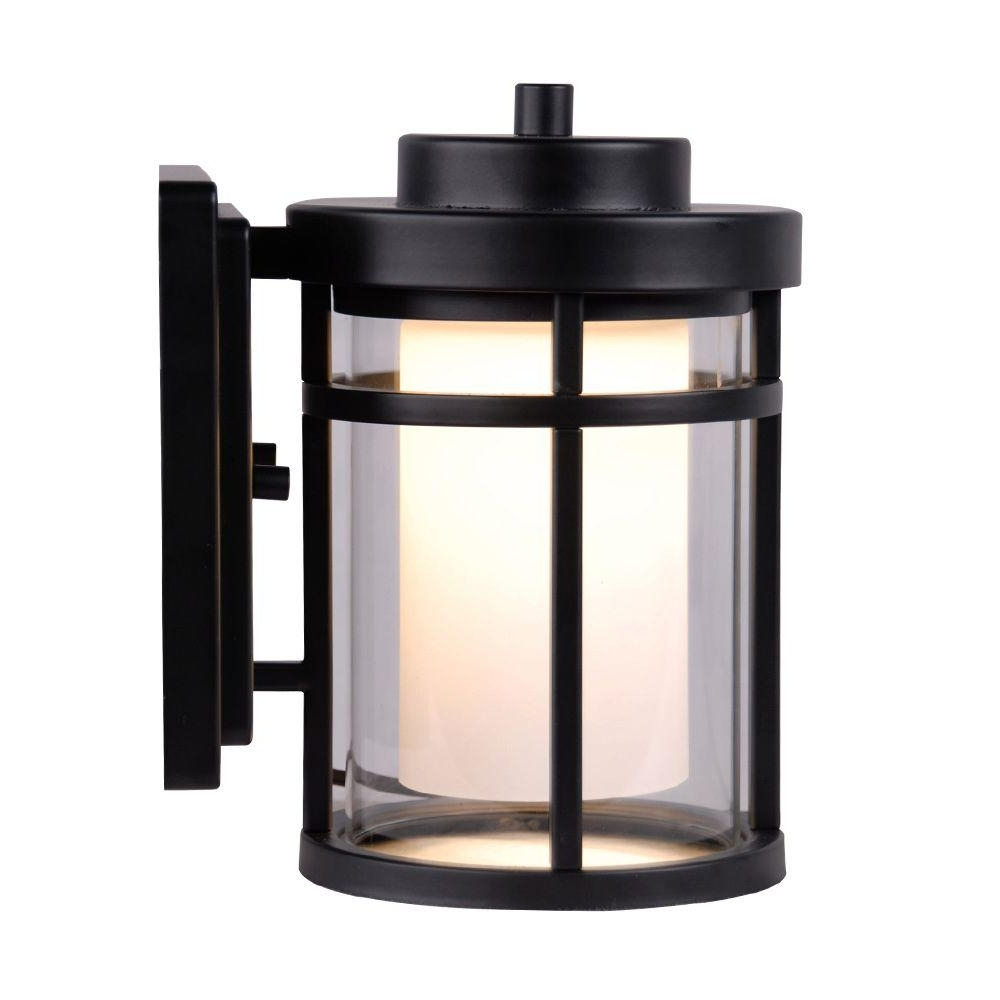 Home Depot Outdoor Lighting Wall Mount Pertaining To Fashionable Outdoor Lanterns With Led Lights (View 15 of 20)
