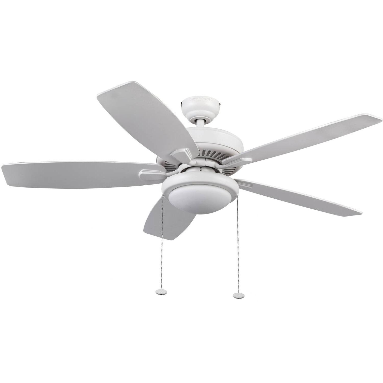 "Honeywell Blufton 52"" White Outdoor Ceiling Fan – Walmart For Current White Outdoor Ceiling Fans (View 7 of 20)"