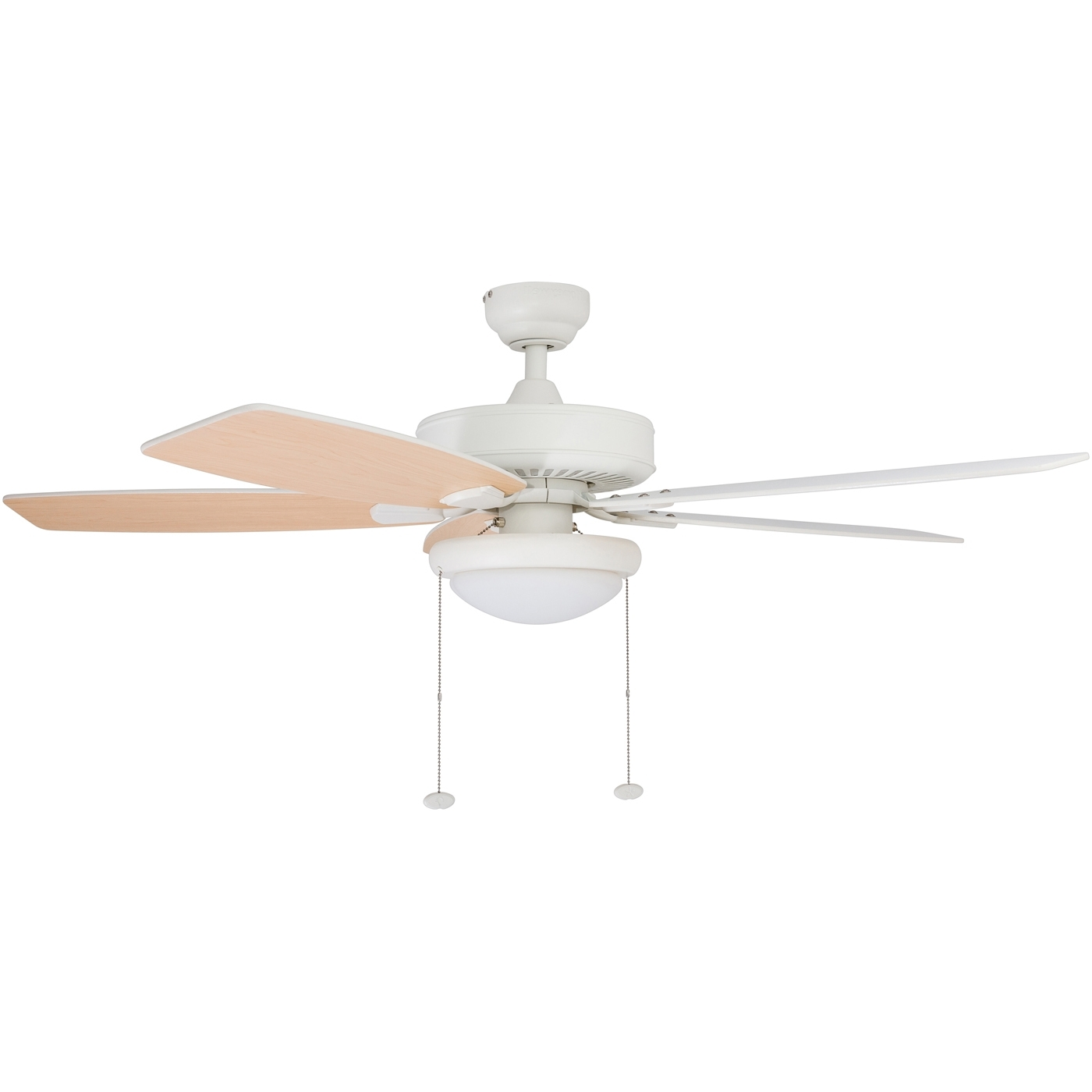 "Honeywell Blufton 52"" White Outdoor Ceiling Fan – Walmart Within Well Known Outdoor Ceiling Fan With Brake (View 6 of 20)"