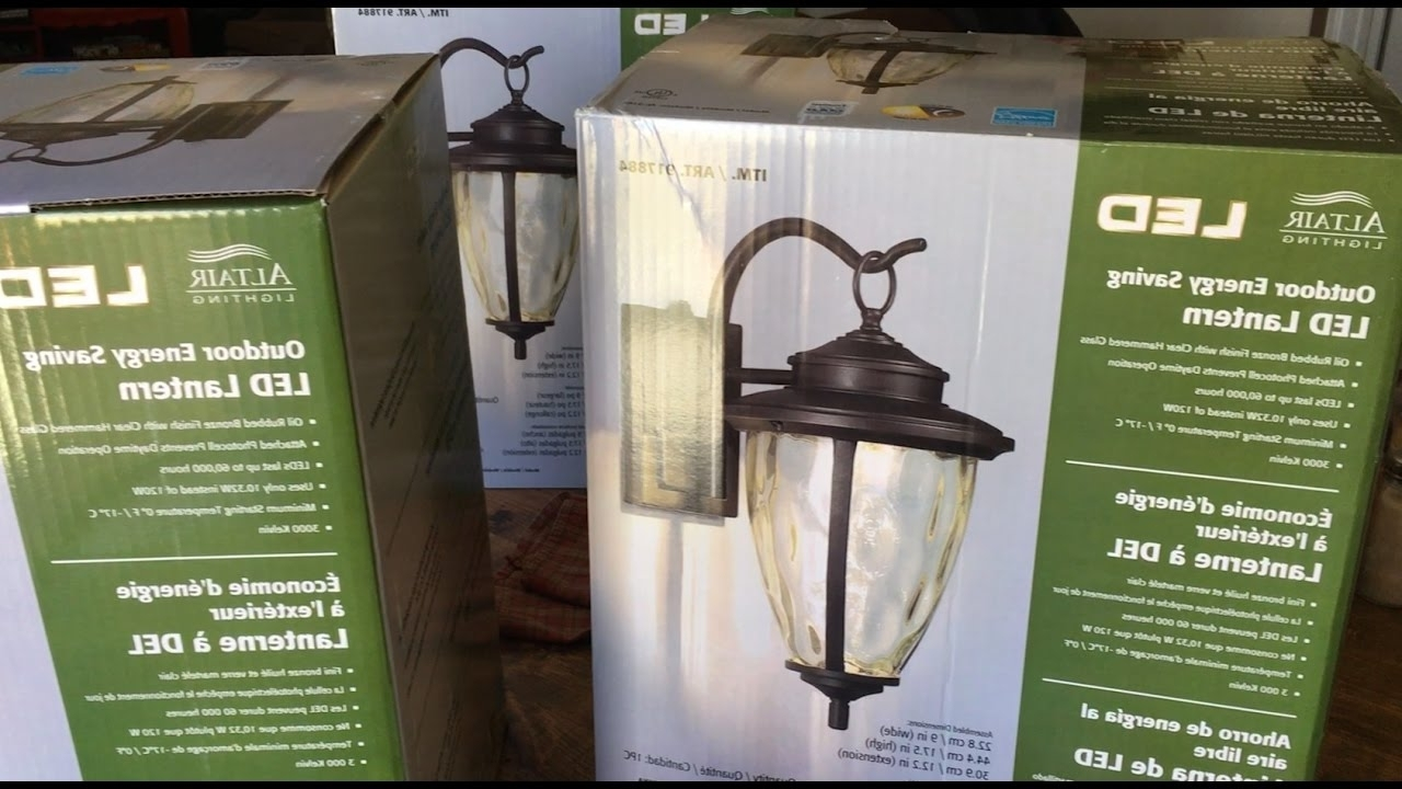 How To Install Outdoor Light Fixture – Altair Led Outdoor Energy Regarding Most Recently Released Outdoor Lanterns At Costco (View 7 of 20)