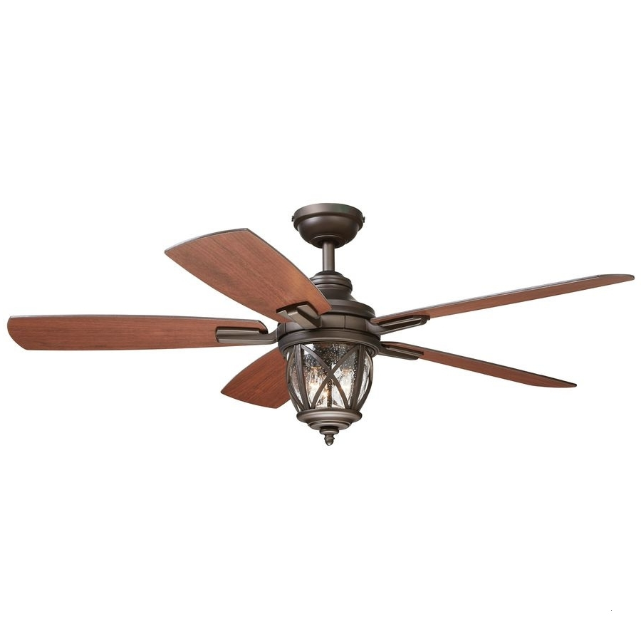 Hunter 52 In Allegheny New Bronze Outdoor Ceiling Fan With Light Kit For Fashionable 72 Predator Bronze Outdoor Ceiling Fans With Light Kit (Gallery 3 of 20)