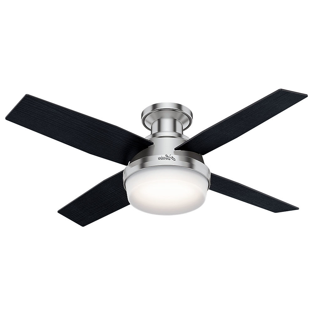 "Hunter 59445 Noble Bronze Dempsey 44"" 4 Blade Led Indoor Ceiling Fan Pertaining To Famous Hunter Outdoor Ceiling Fans With Lights And Remote (View 6 of 20)"