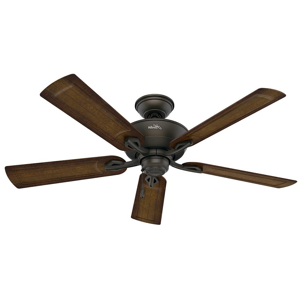 Hunter Caicos 52 In. Indoor/outdoor New Bronze Wet Rated Ceiling Fan With Newest Outdoor Ceiling Fans With Misters (Gallery 14 of 20)