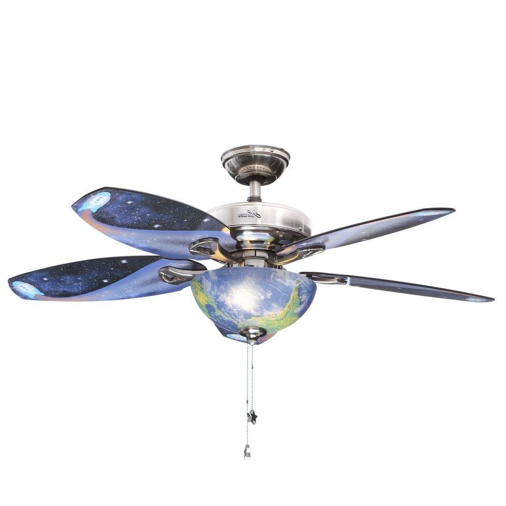 Hunter Discovery 48 In. Indoor Brushed Nickel Ceiling Fan With Light Within Well Liked 48 Outdoor Ceiling Fans With Light Kit (Gallery 9 of 20)