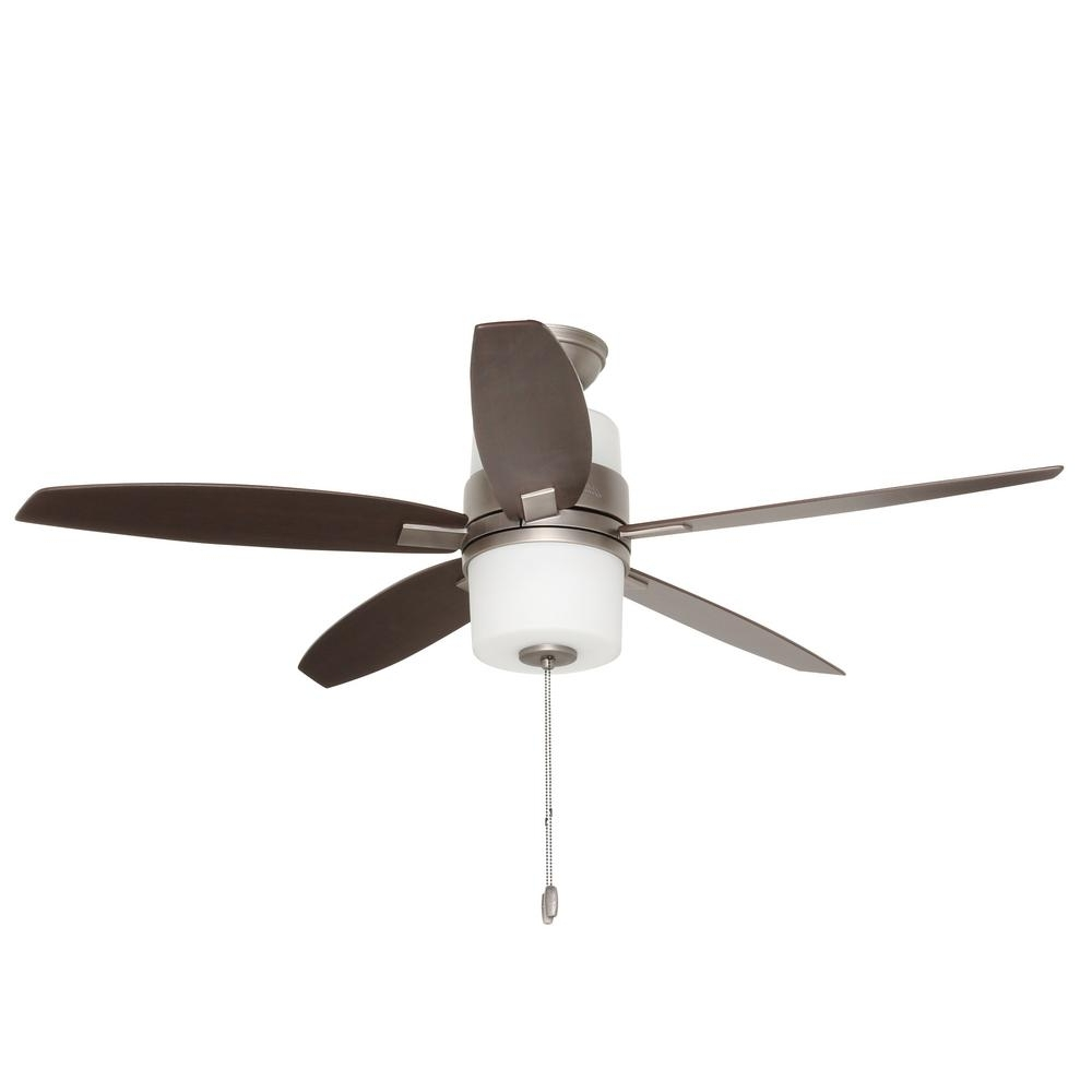 Hunter Domino 52 In. Indoor Antique Pewter Ceiling Fan With Light In Most Current Outdoor Ceiling Fans Under $200 (Gallery 18 of 20)