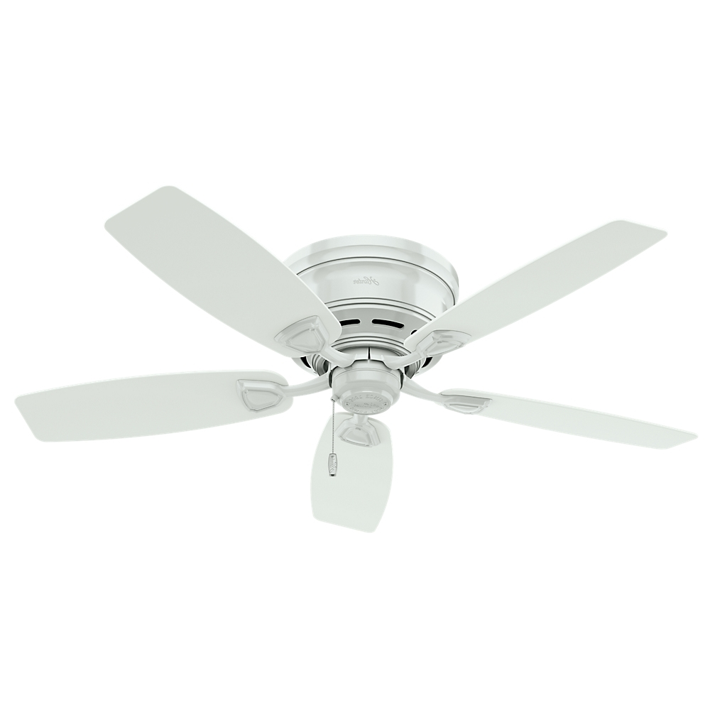 """Hunter Fan Sea Wind 48"""" White Outdoor Ceiling Fan, 53119 – Walmart Throughout 2019 Outdoor Ceiling Fans For High Wind Areas (Gallery 8 of 20)"""