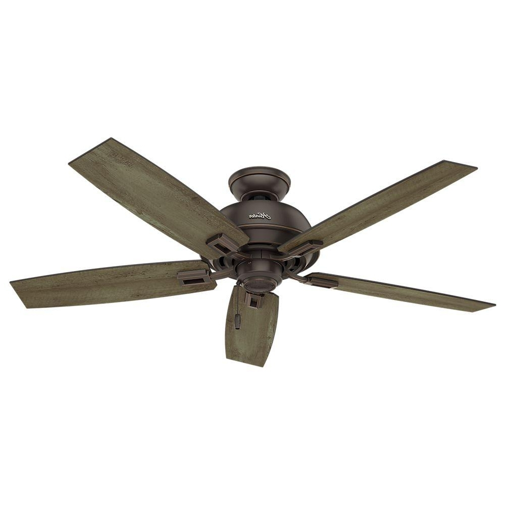 Hunter Indoor Outdoor Ceiling Fans With Lights Inside Most Popular Hunter Donegan 52 In (View 5 of 20)