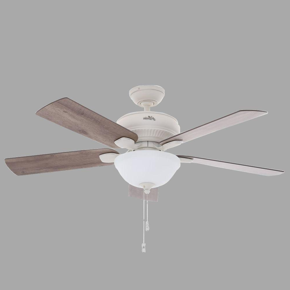 Hunter Matheston 52 In. Indoor Onyx Bengal Bronze Ceiling Fan With Within 2018 Hunter Outdoor Ceiling Fans With Lights (Gallery 20 of 20)