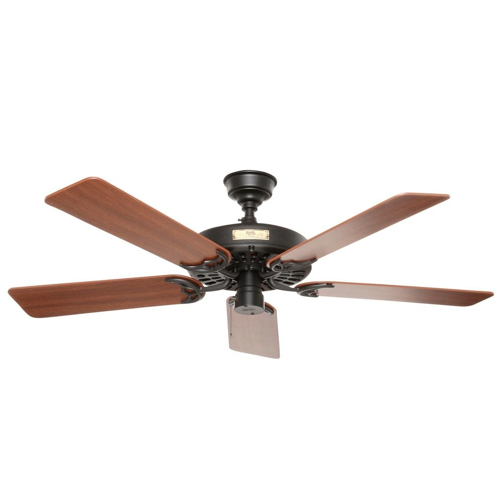 Hunter Original 52 In. Indoor/outdoor Black Ceiling Fan 23838 – The Intended For Most Current Outdoor Ceiling Fans At Home Depot (Gallery 20 of 20)