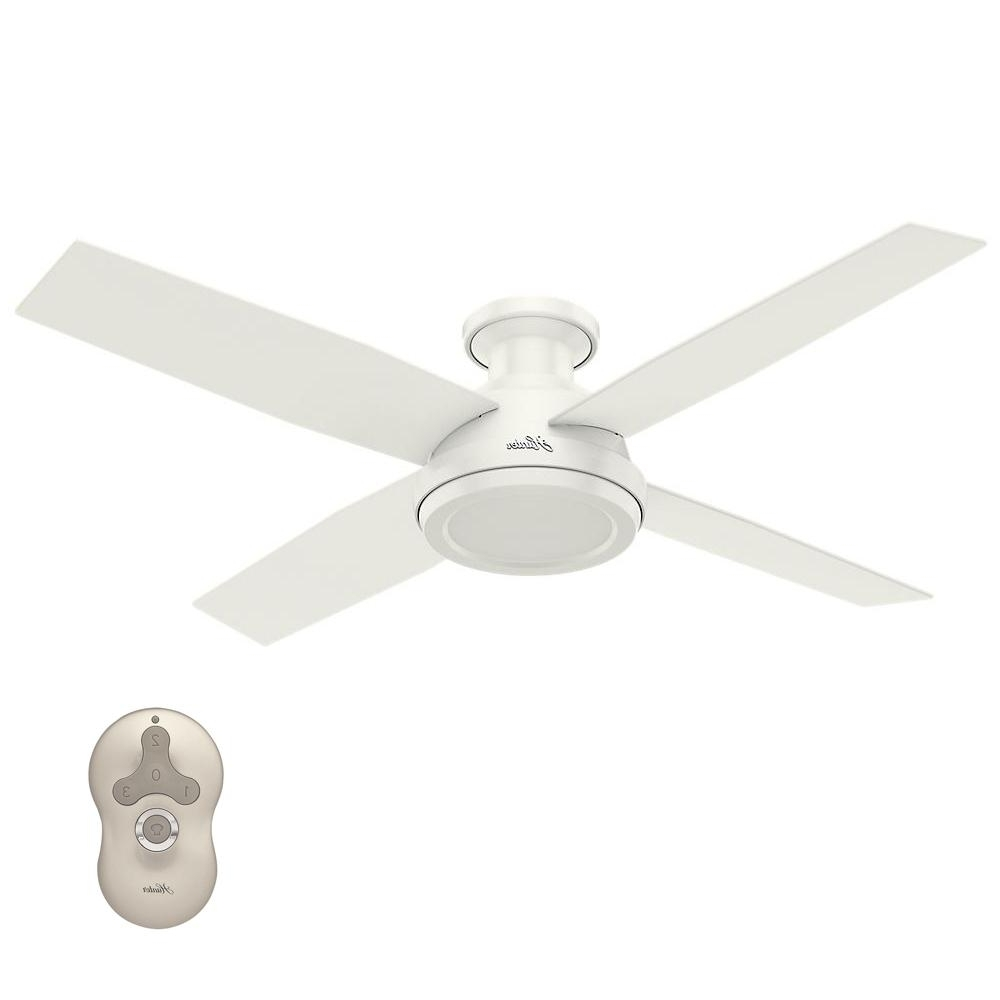 Hunter Outdoor Ceiling Fans With White Lights With Regard To Current Hunter Dempsey 52 In (View 11 of 20)