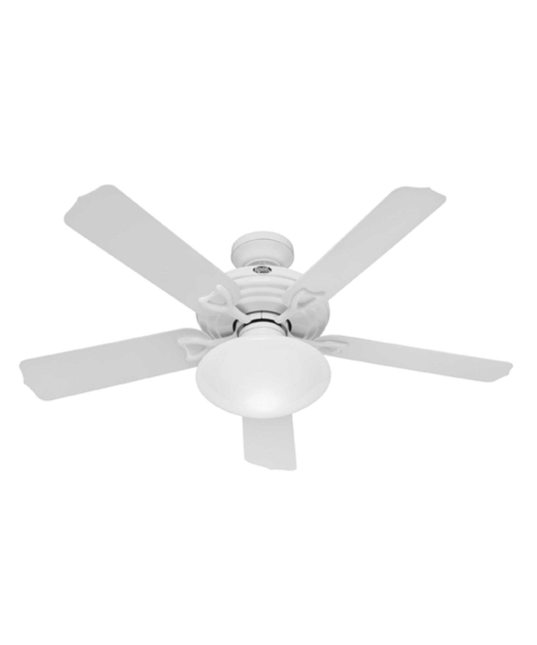 Hunter Outdoor Ceiling Fans With White Lights Within Most Recent Hunter Fan Beaufort Trends With Stunning White Outdoor Ceiling Fans (Gallery 11 of 20)