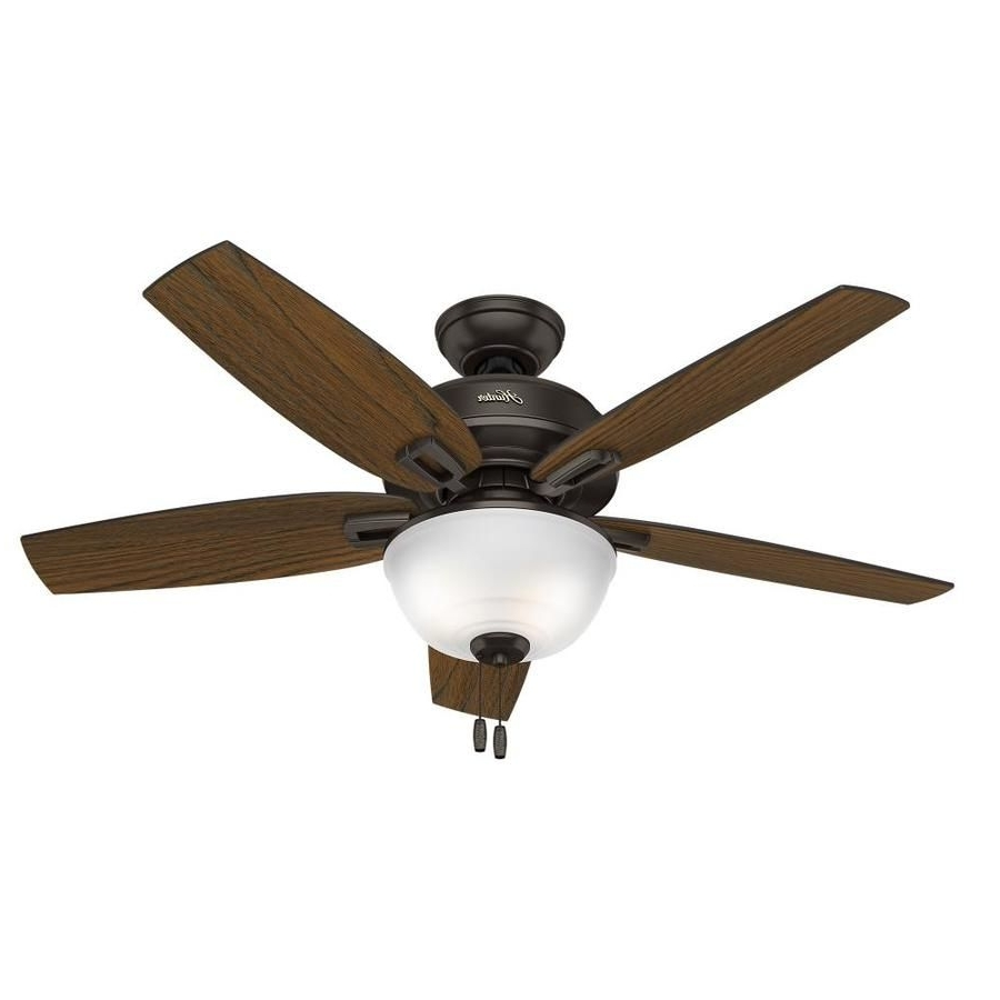 Hunter Wetherby Cove 48 In Premier Bronze Indoor/outdoor Downrod Or Within Most Popular 48 Outdoor Ceiling Fans With Light Kit (View 12 of 20)