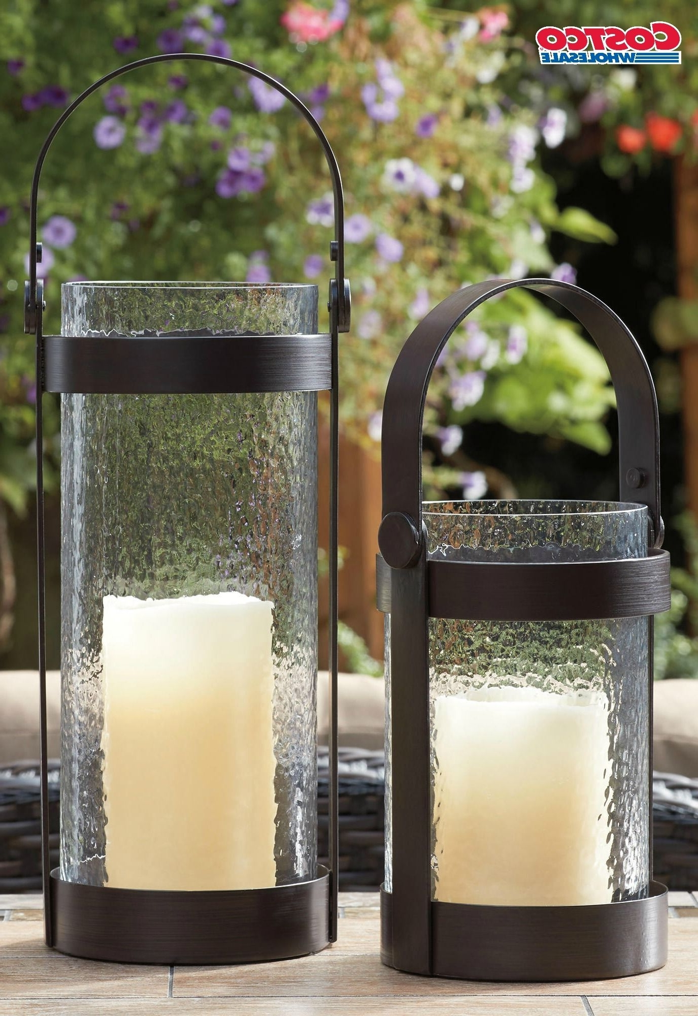 Hurricane Lanterns W/ Led Outdoor Candles – 2 Pack Add This Set Of 2 With Recent Outdoor Hurricane Lanterns (View 15 of 20)