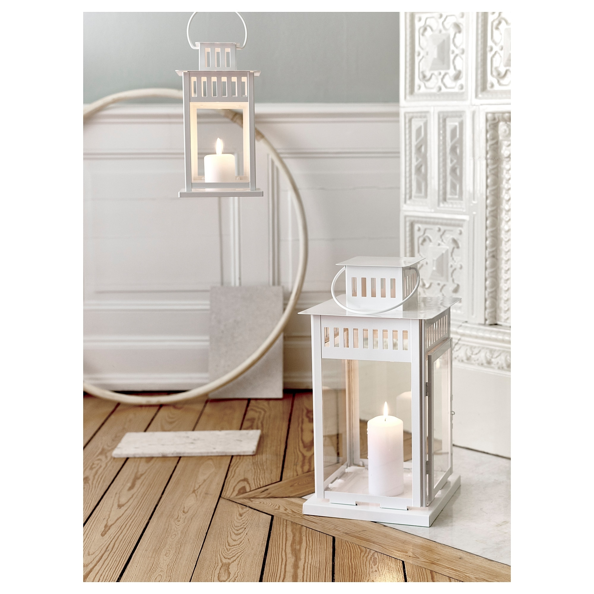 Ikea Outdoor Lanterns With Regard To 2019 Borrby Lantern For Block Candle In/outdoor White 28 Cm – Ikea (View 9 of 20)