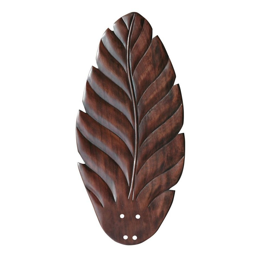 Indoor/outdoor Carved Leaf Cherry Ceiling Fan Blade (Gallery 17 of 20)