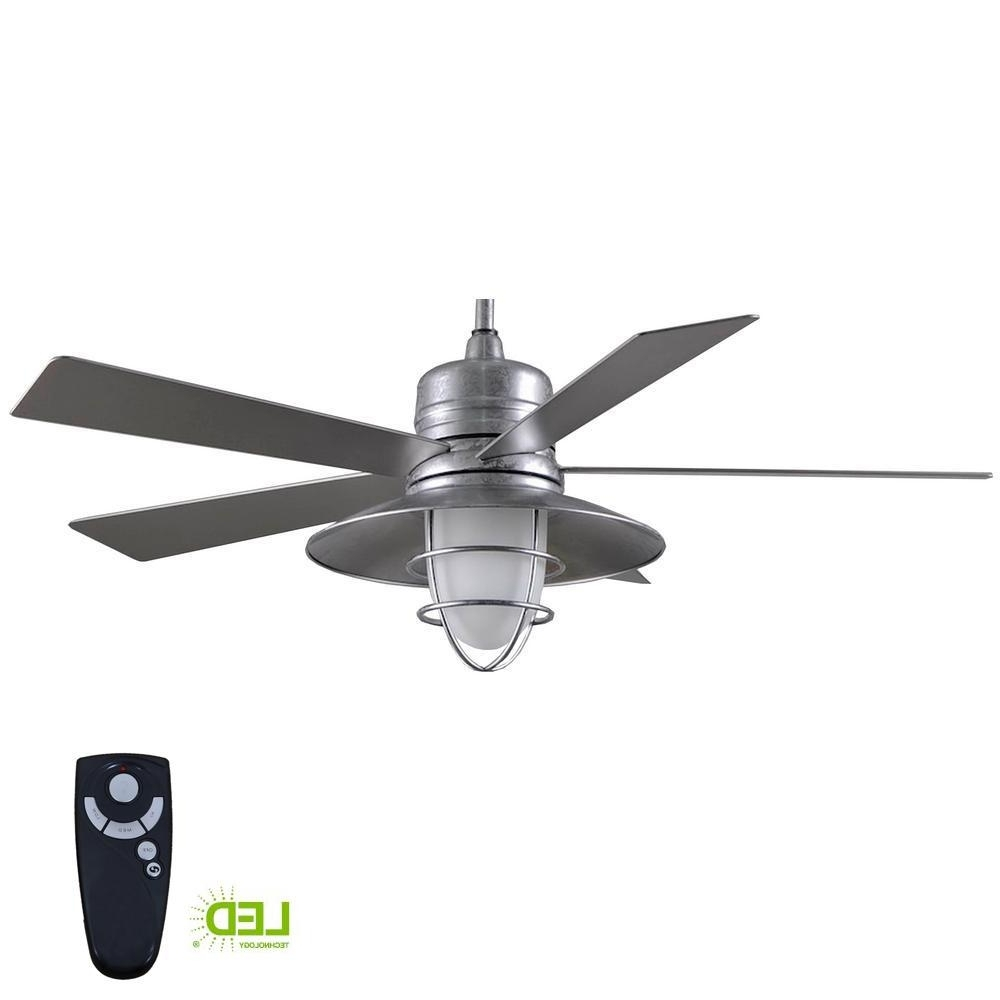 Indoor Outdoor Ceiling Fans With Lights And Remote For Well Liked Home Decorators Collection Grayton 54 In. Led Indoor/outdoor (Gallery 16 of 20)