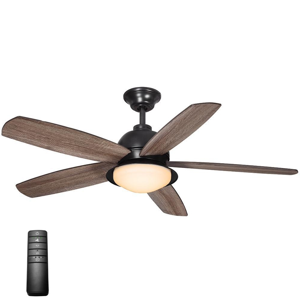 Indoor Outdoor Ceiling Fans With Lights And Remote Within Widely Used Home Decorators Collection Ackerly 52 In. Led Indoor/outdoor Natural (Gallery 5 of 20)