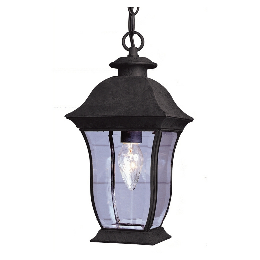 Indoor Outdoor Lanterns For Most Current Lowes Patio Lights Shop Allen Roth 14 Ft Brown Indoor Outdoor String (Gallery 20 of 20)