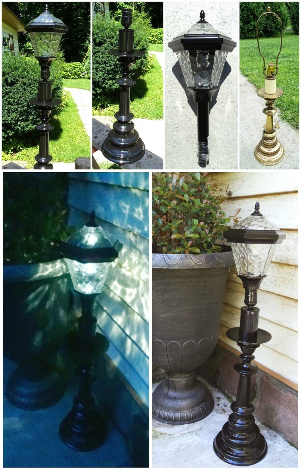 Inexpensive Outdoor Lanterns In Fashionable Diy Solar Lamp, Just Use An Inexpensive Solar Stake Light And An Old (View 7 of 20)