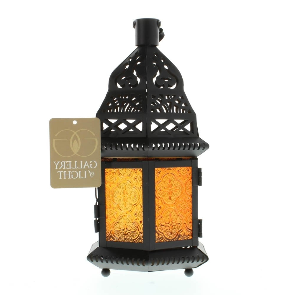 Italian Outdoor Lanterns In Newest Moroccan Lantern Large, Yellow Glass Decorative Outdoor Lanterns For (View 6 of 20)