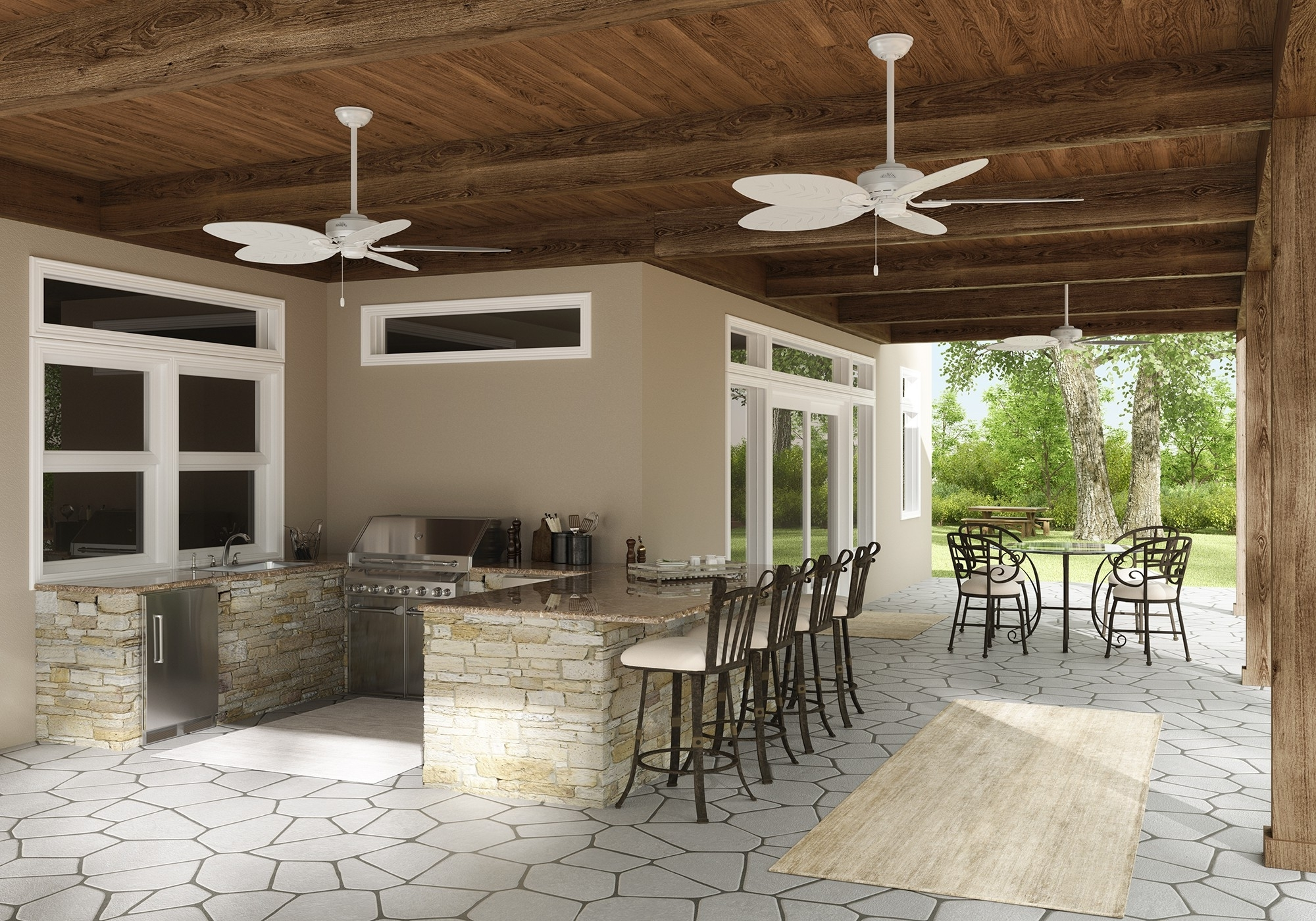 Joanna Gaines Outdoor Ceiling Fans In Most Recent How To Choose An Outdoor Ceiling Fan – Hunter Fan Blog (Gallery 19 of 20)