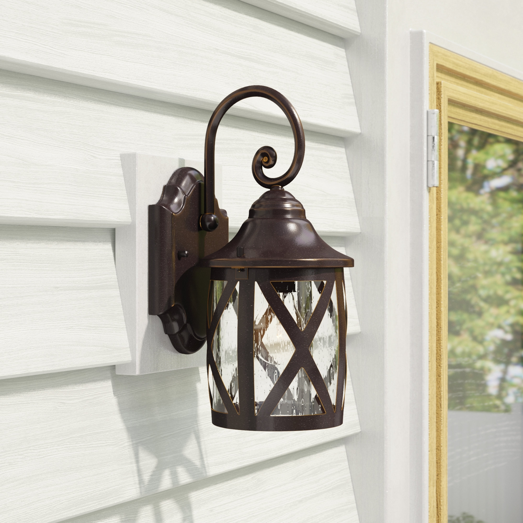 Joanns Outdoor Lanterns Within Preferred Laurel Foundry Modern Farmhouse Landon 1 Light Outdoor Wall Lantern (View 18 of 20)