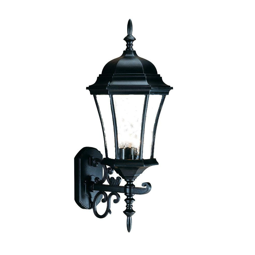 Jumbo Outdoor Lanterns Inside Well Liked Acclaim Lighting Lanai Collection 2 Light Matte Black Outdoor Wall (View 7 of 20)