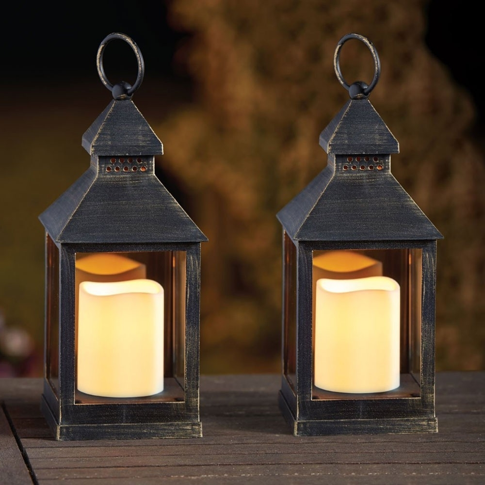 Kentish Candle Lantern (Pack Of 2) Throughout Famous Outdoor Lanterns With Battery Candles (Gallery 13 of 20)