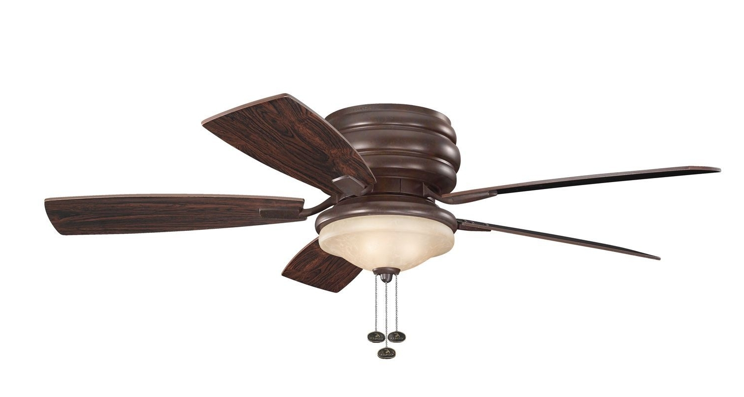 "Kichler 300119 52"" Outdoor Ceiling Fan With Blades Light Kit And Throughout Best And Newest Outdoor Ceiling Fans With Pull Chains (Gallery 3 of 20)"