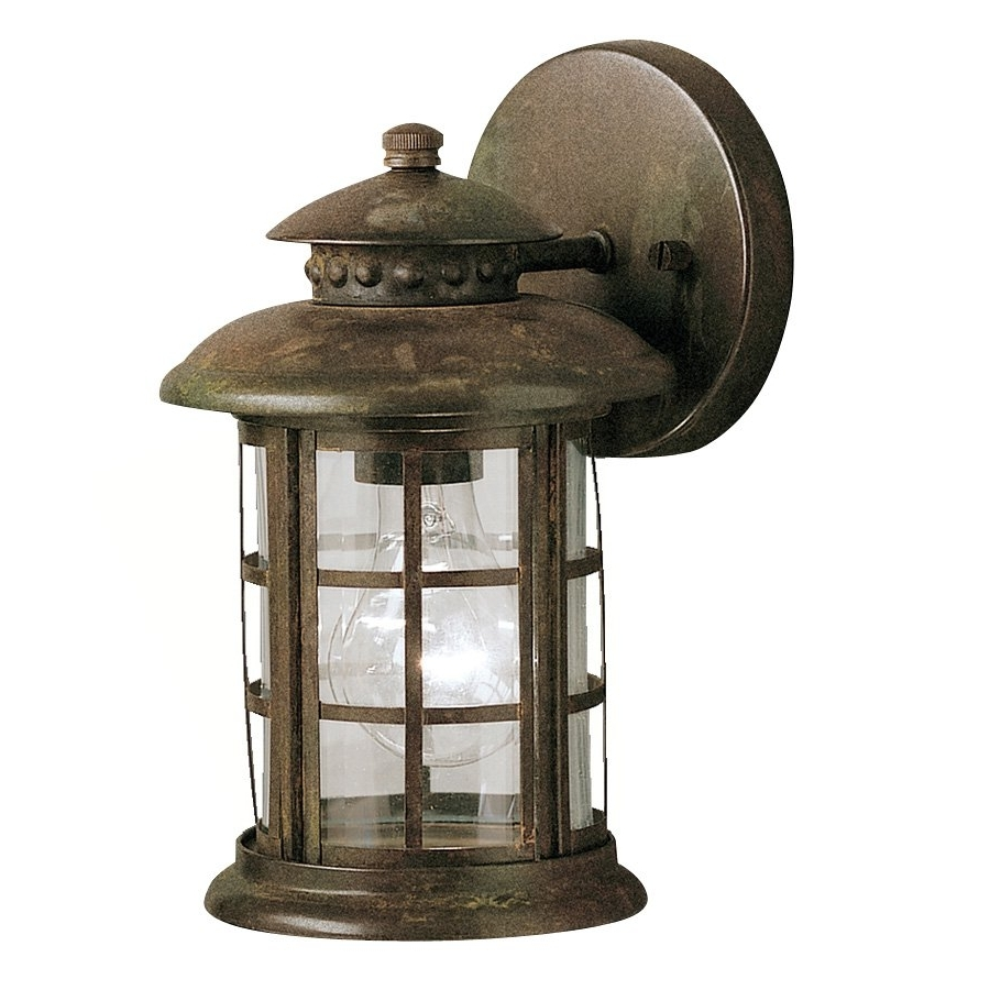 Kichler Lighting 9759Rst Rustic Outdoor Sconce Atg Stores, Rustic Inside Recent Outdoor Lanterns At Pottery Barn (Gallery 17 of 20)