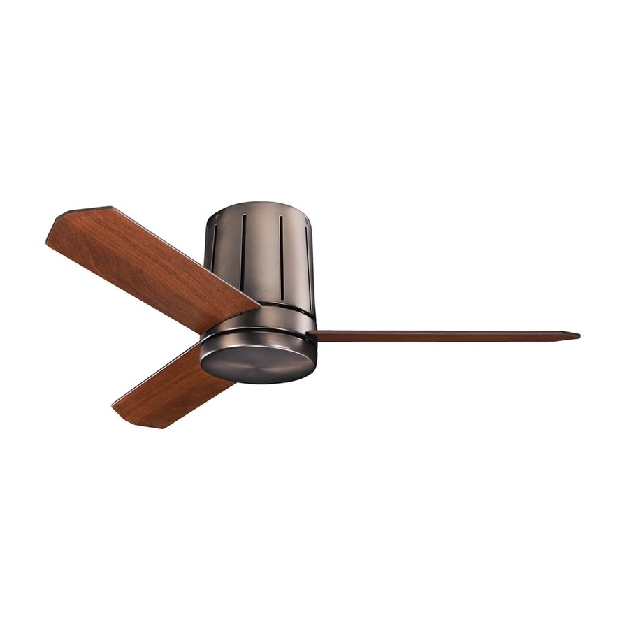 Kichler Lighting Innes Ii 42 In Oil Brushed Bronze Flush Mount Intended For Famous 42 Outdoor Ceiling Fans With Light Kit (View 11 of 20)