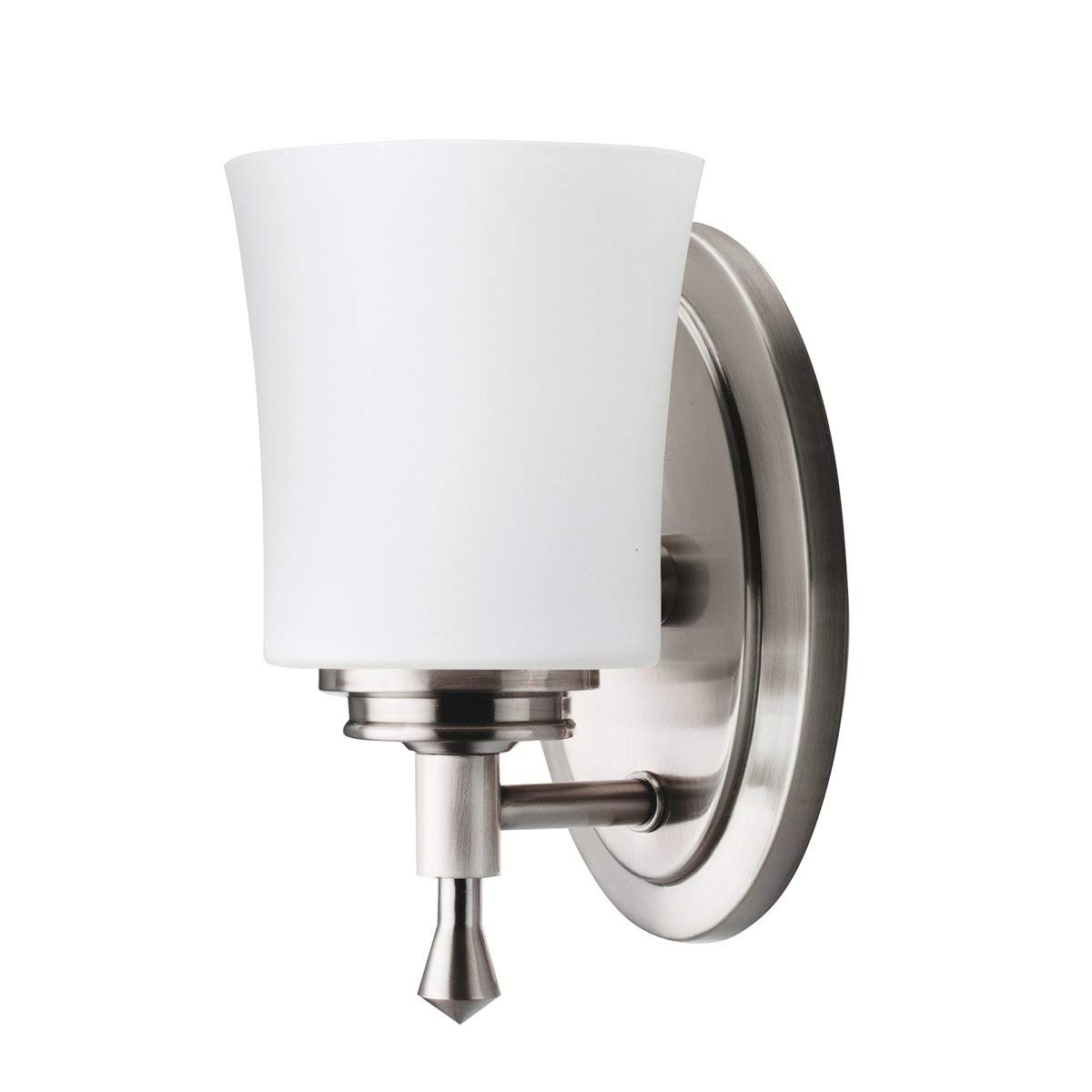 Kichler Wharton Wall Sconce Light Brushed Nickel Vanity Lighting With Regard To Well Known Outdoor Lanterns At Bunnings (Gallery 17 of 20)