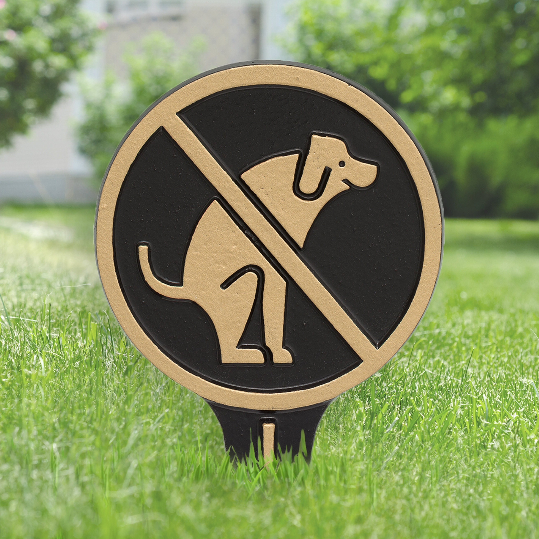 Kroger Outdoor Lanterns For Most Recently Released Symple Stuff Kroger No Dog Poop Garden Sign (View 16 of 20)