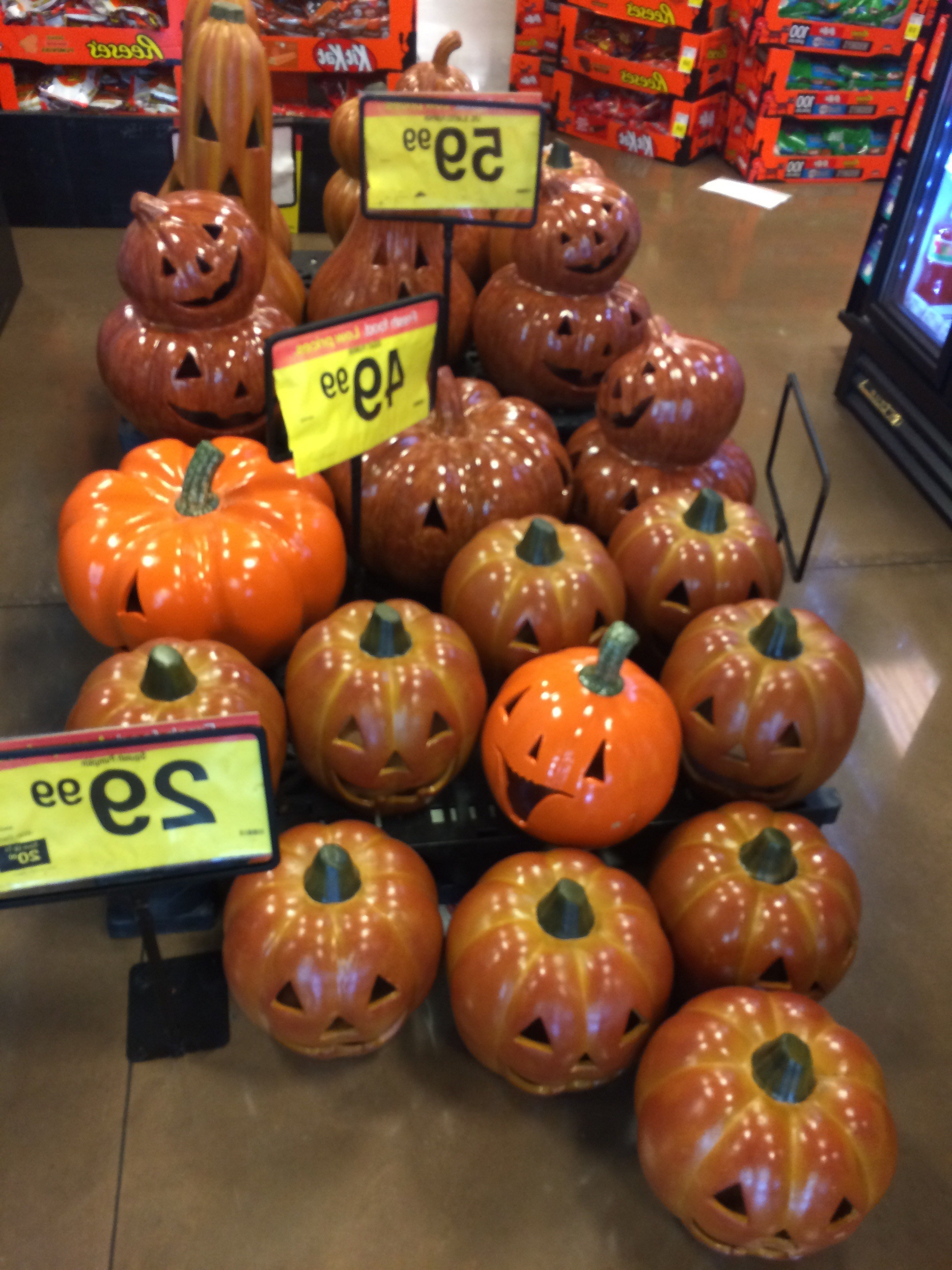 Kroger Outdoor Lanterns Pertaining To Most Recently Released Ceramic Pumpkins At Kroger (View 7 of 20)