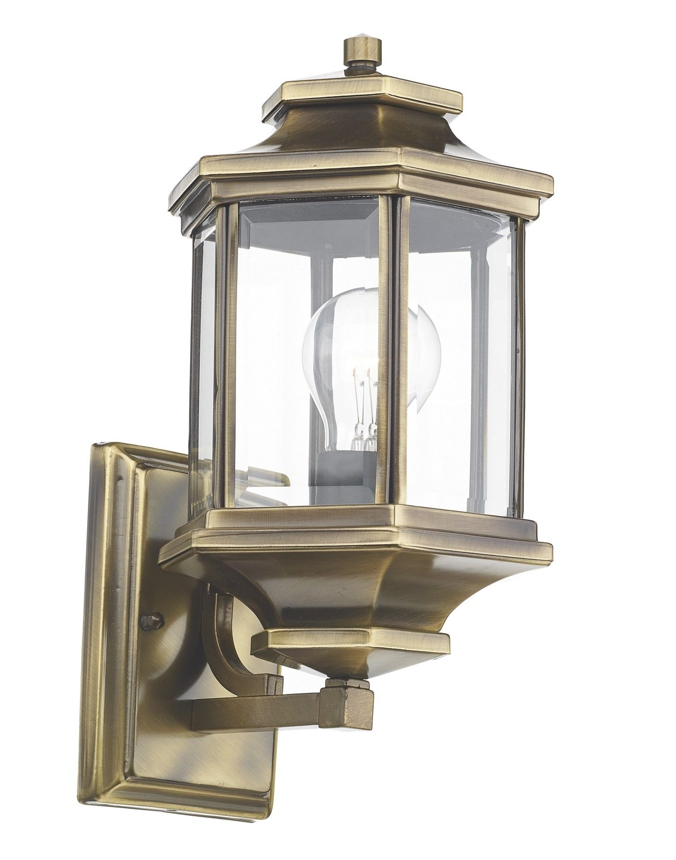 Ladbroke Lantern Antique Brass Complete With Bevelled Glass (Gallery 16 of 20)