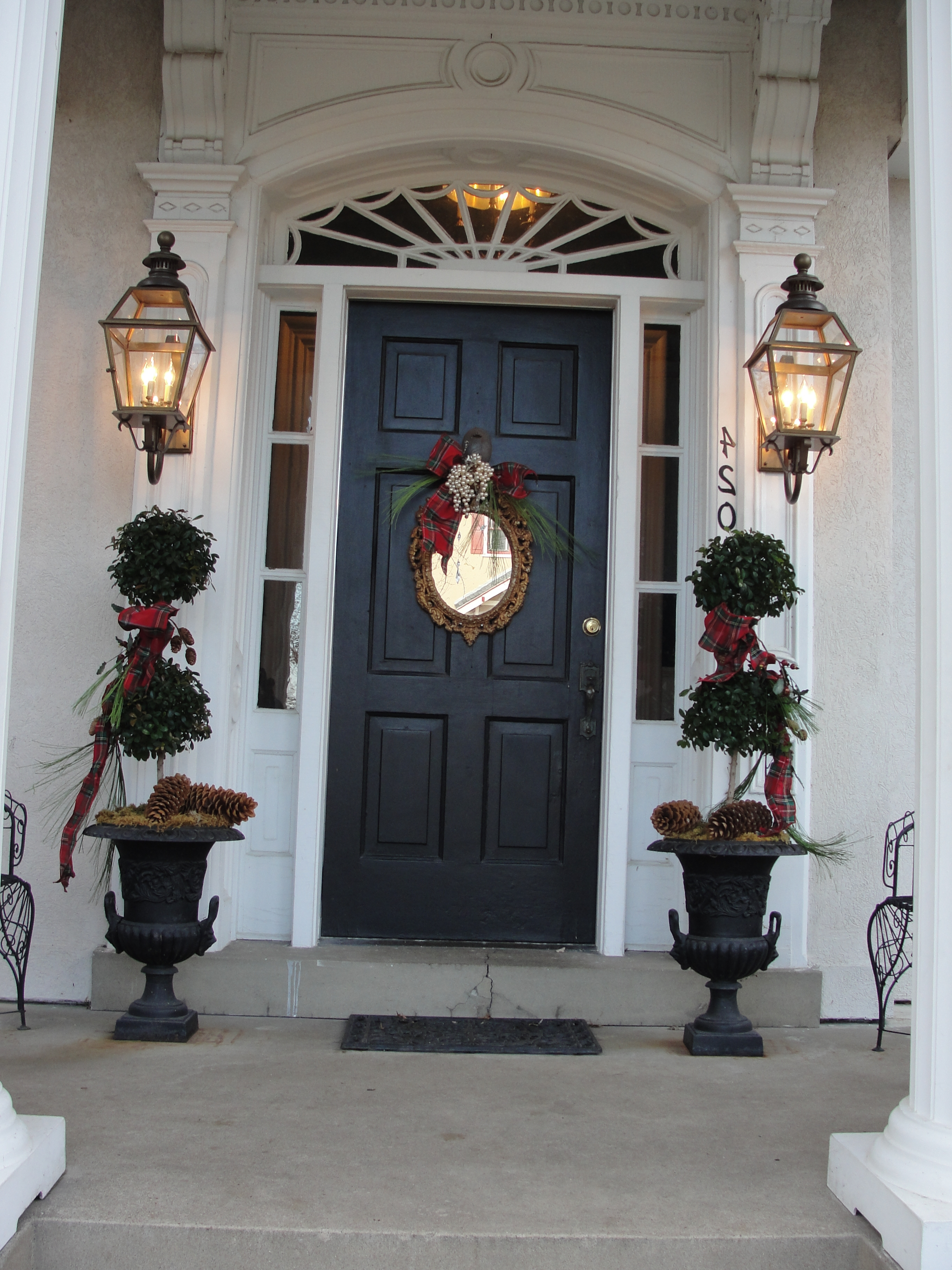 Lanterns Outside Front Door (View 7 of 20)