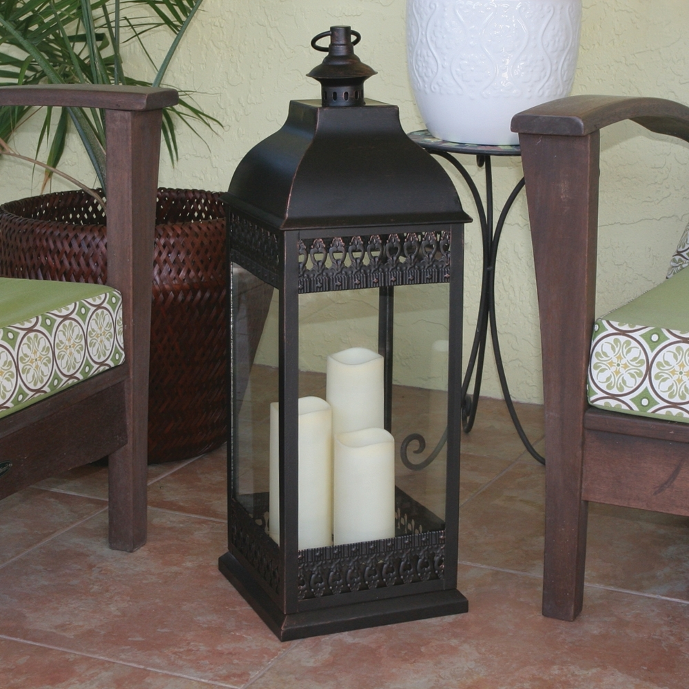 Large Floor Candle Lanterns – Best Candle 2018 Pertaining To Most Popular Extra Large Outdoor Lanterns (View 17 of 20)
